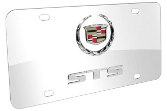 DWD® - 3D STS Double Logo on Chrome Stainless Steel License Plate