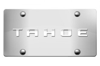 DWD® 303860 - 3D Tahoe Logo on Chrome Stainless Steel License Plate