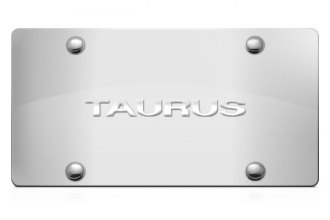 DWD® - 3D Taurus Logo on Chrome Stainless Steel License Plate