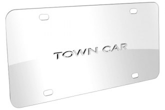 DWD® - 3D Town Car Logo on Chrome Stainless Steel License Plate