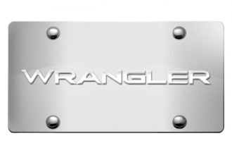DWD® - 3D Wrangler Logo on Chrome Stainless Steel License Plate
