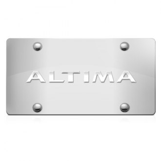 iPickimage® - 3D Altima Logo on Chrome Stainless Steel License Plate