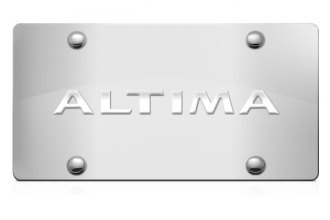 DWD® 305130 - 3D Altima Logo on Chrome Stainless Steel License Plate