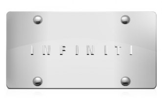 DWD® - 3D Infiniti Logo on Chrome Stainless Steel License Plate