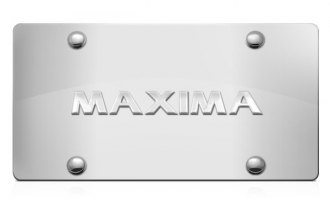 DWD® 306052 - 3D Maxima Logo on Chrome Stainless Steel License Plate