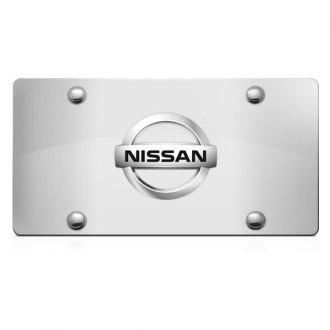 iPickimage® - 3D Nissan Logo on Chrome Stainless Steel License Plate