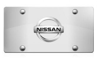 DWD® - 3D Nissan Logo on Chrome Stainless Steel License Plate