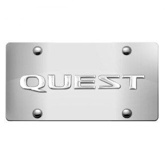 iPickimage® - 3D Quest Logo on Chrome Stainless Steel License Plate