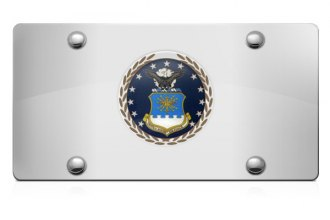 DWD® - 3D Air Force Logo on Chrome Stainless Steel License Plate