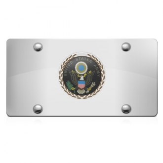 DWD® - 3D Army Logo on Chrome Stainless Steel License Plate