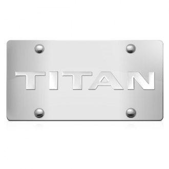 iPickimage® - 3D Titan Logo on Chrome Stainless Steel License Plate
