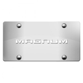 DWD® - 3D Magnum Logo on Chrome Stainless Steel License Plate