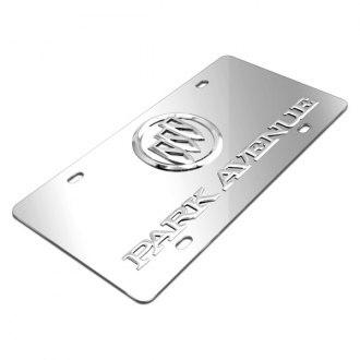 iPickimage® - 3D Park Avenue Logo on Chrome Stainless Steel License Plate with Buick Emblem