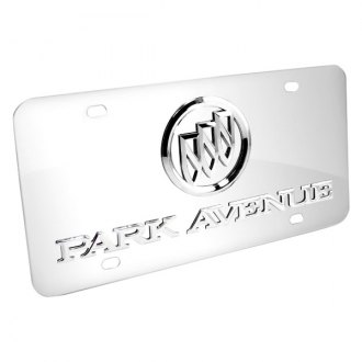 DWD® - 3D Park Avenue Logo on Chrome Stainless Steel License Plate with Buick Emblem