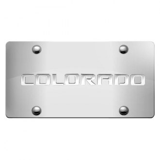 iPickimage® - 3D Colorado Logo on Chrome Stainless Steel License Plate