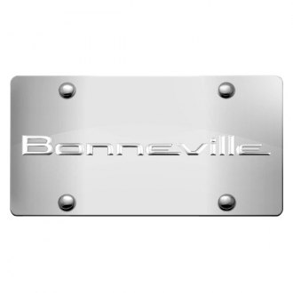 iPickimage® - 3D Bonneville Logo on Chrome Stainless Steel License Plate