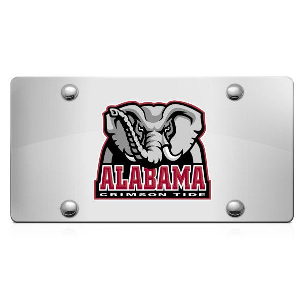 DWD® - 3D Big Al Decal Logo on Chrome Stainless Steel License Plate