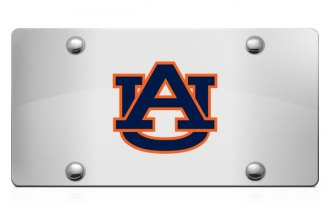 DWD® - 3D AU Decal Logo on Chrome Stainless Steel License Plate