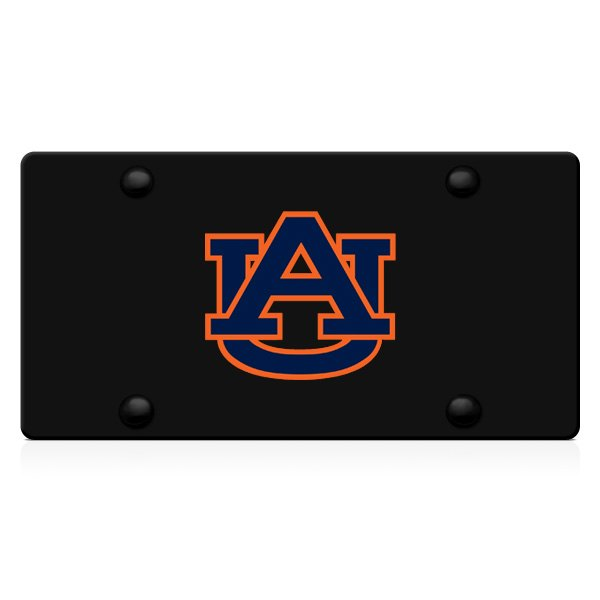 DWD® - 3D AU Decal Logo on Black Stainless Steel License Plate