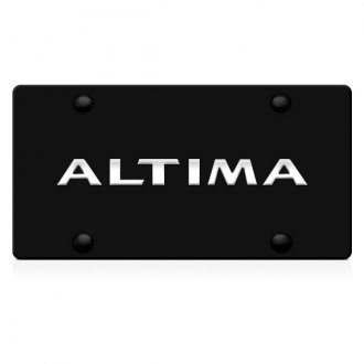 iPickimage® - 3D Altima Logo on Black Stainless Steel License Plate