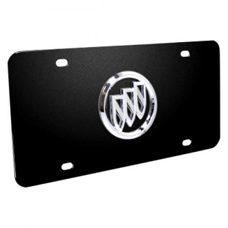 DWD® - 3D Buick Logo on Black Stainless Steel License Plate