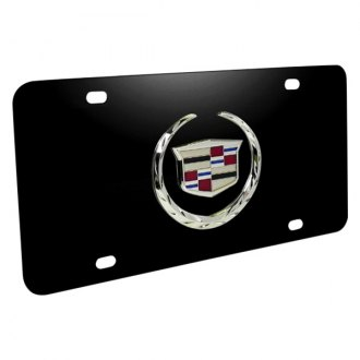 iPickimage® - 3D Cadillac Logo on Black Stainless Steel License Plate