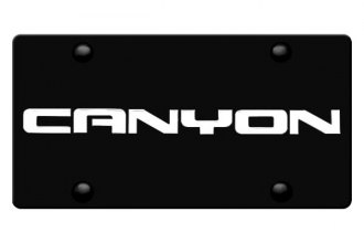 DWD® - 3D Canyon Logo on Black Stainless Steel License Plate