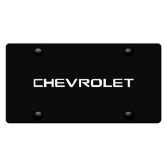 iPickimage® - 3D Chevy Logo on Black Stainless Steel License Plate