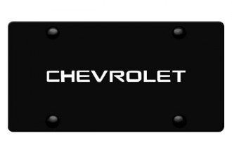 DWD® - 3D Chevy Logo on Black Stainless Steel License Plate