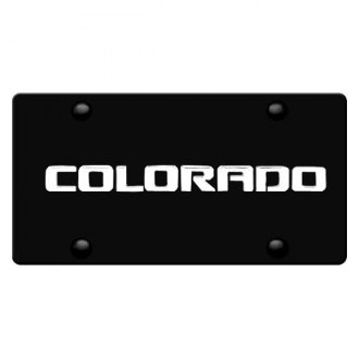 iPickimage® - 3D Colorado Logo on Black Stainless Steel License Plate