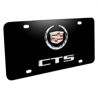 iPickimage® - 3D CTS Double Logo on Black Stainless Steel License Plate