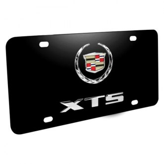 iPickimage® - 3D CTS Logo on Black Stainless Steel License Plate