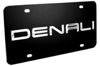 DWD® 310479 - 3D Denali Logo on Black Stainless Steel License Plate