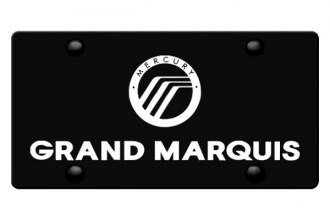 DWD® 310509 - 3D Grand Marquis Double Logo on Black Stainless Steel License Plate