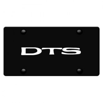 iPickimage® - 3D DTS Logo on Black Stainless Steel License Plate