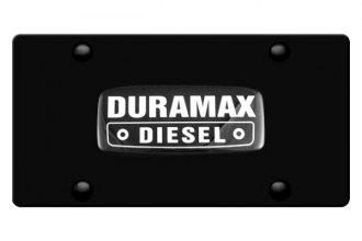 DWD® - 3D Duramax Logo on Black Stainless Steel License Plate