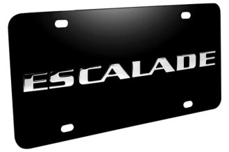 DWD® - 3D Escalade Logo on Black Stainless Steel License Plate