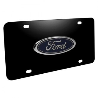 iPickimage® - 3D Ford Oval Car Logo on Black Stainless Steel License Plate