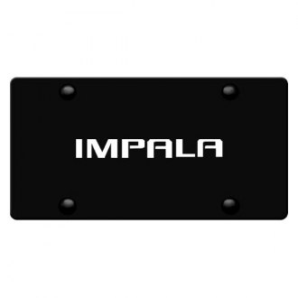 DWD® - 3D Impala Name on Black Stainless Steel License Plate