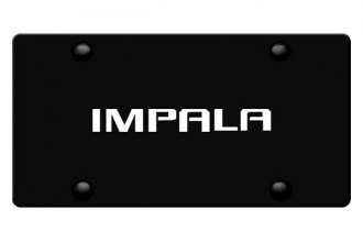 DWD® - 3D Impala Logo on Black Stainless Steel License Plate