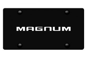 DWD® - 3D Magnum Logo on Black Stainless Steel License Plate