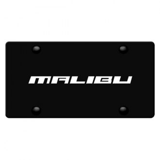 DWD® - 3D Malibu Logo on Black Stainless Steel License Plate