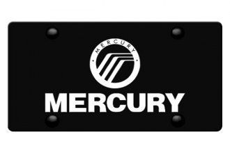 DWD® - 3D Mercury Double Logo on Black Stainless Steel License Plate