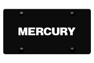 DWD® - 3D Mercury Logo on Black Stainless Steel License Plate