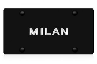 DWD® - 3D Milan Logo on Black Stainless Steel License Plate