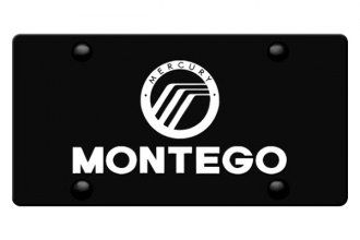 DWD® - 3D Montego with Mercury Logo on Black Stainless Steel License Plate