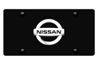 DWD® - 3D Nissan Logo on Black Stainless Steel License Plate