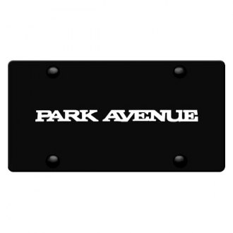 DWD® - 3D Park Avenue Logo on Black Stainless Steel License Plate