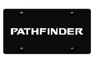 DWD® - 3D Pathfinder Logo on Black Stainless Steel License Plate