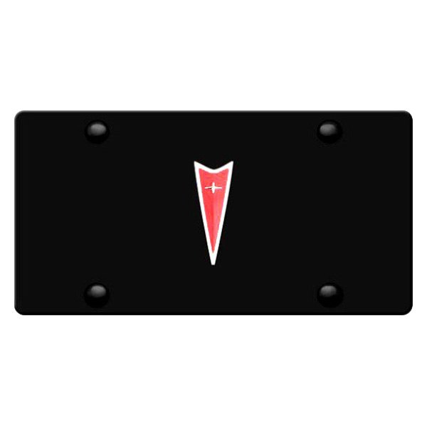 DWD� - 3D Pontiac Logo on Black Stainless Steel License Plate